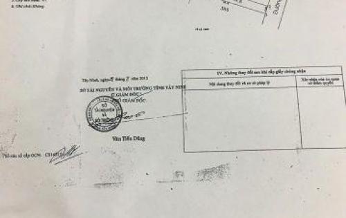 chính chủ bán gấp lô đất giá rẻ gần khu công nghiệp Trảng Bàng Tây Ninh