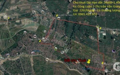 -Cho thuê Dài hạn đất 24x60m tại thị trấn Văn Giang, Hưng Yên