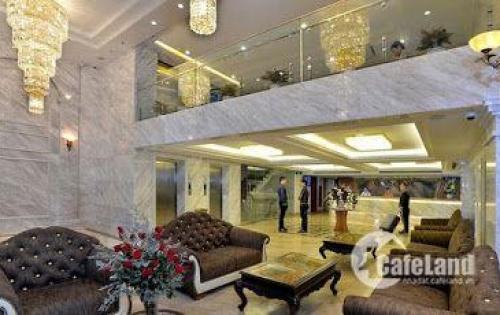 Bán Gấp Tòa khách sạn 9 tầng mặt vườn hoa Dịch Vọng Hậu-Trần Thái Tông.DT 610m2.GIÁ 200 TỶ.