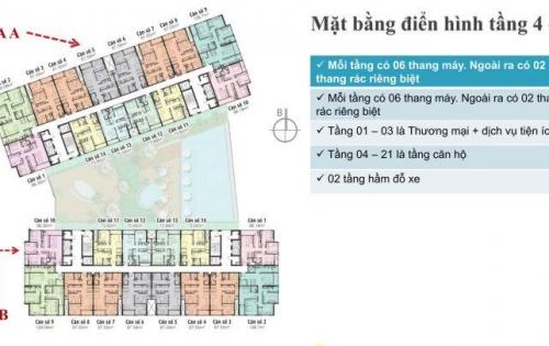 Bán căn 3PN diện tích 87.97m2 dự án GREEN PEARL - 378 Minh Khai từ 909 triệu. Triết khấu 5%