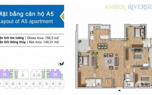 Không thể cầm lòng với căn 4 ngủ - Amber Riverside