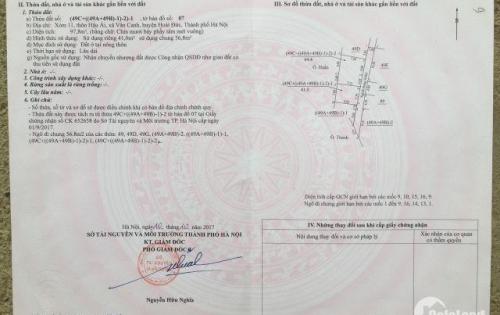 Chính chủ cần bán gấp mảnh đất 41m2 tại Vân Canh, Hoài Đức