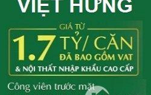Thật dễ dàng sở hữu căn hộ cao cấp Eco city Việt Hưng với giá chỉ từ 1,7 tỷ