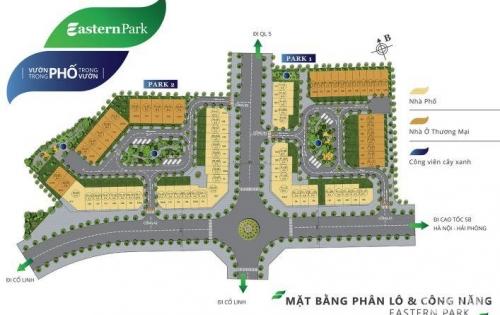 5 điểm nhấn vàng khiến Shophouse Hà Nội garden city, nhà phố Eastern Park thu hút các nhà đầu tư năm 2018 ?