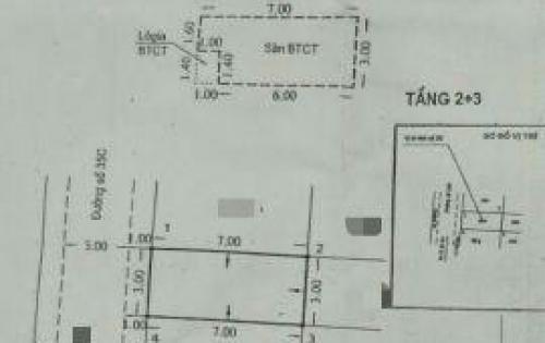 Nhà Chính chủ Bình Phú 2,dt3x7 đúc 3,5 tấm BTCT,giá 3ty350