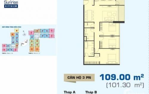 Cần ra gấp căn hộ Sunrise Cityview 109m2 ,3PN ,chỉ 3,8 tỷ .Lh trực tiếp 0909802822
