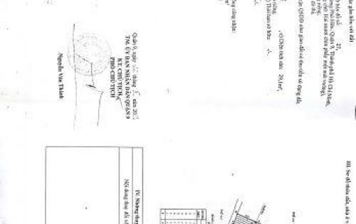 Nhà dt 37m2 giá tốt nhất 1 tỷ 450tr gần UBND Phường Phú Hữu Q9