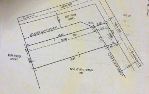 Chính chủ cần bán gấp nhà cấp 4 hxh diện tích 5,2x17,5 Sinco bình tân