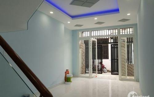 Nhà tặng nội thất 1 trệt 1 lầu, 110m2, hẻm ô tô, kiến trúc rất đẹp, SHR