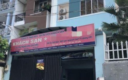 Bán khách sạn một sao, Phạm Văn Đồng, p.Hiệp Bình Chánh, TĐ.
