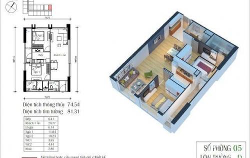Bán gấp căn hộ Eco Green City, dt 74m2, giá 1,9 tỷ, 286 Nguyễn Xiển.