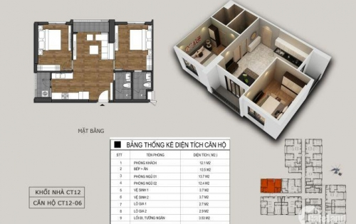 Bán xuất ngoại giao căn hộ 03 ngủ, diện tích 87m2, ban công Đông Nam dự án Hồng Hà EcoCity