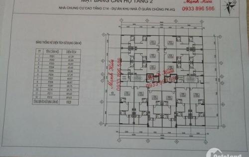 Bán chung cư khu nhà ở C14 - Lữ đoàn 26 - PKKQ . định công giá rẻ