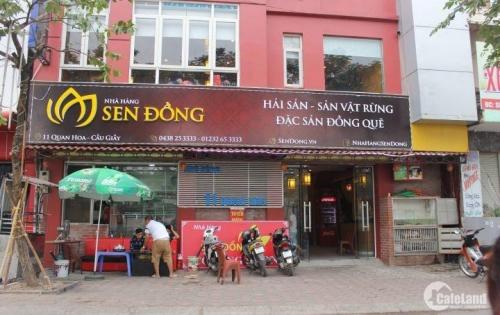 Nhượng lại nhà Hàng Sen Đồng tại số 11 Quan Hoa