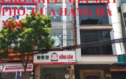 Cho thuê nhà mặt phố Trần Duy Hưng DT 60m, 3 tầng, MT 5m, Giá 65 triệu/tháng.LH 0969166861