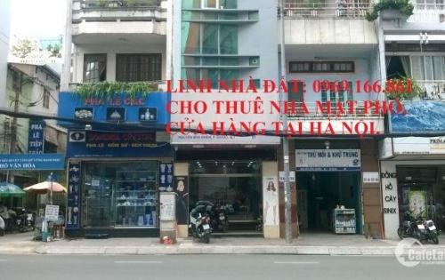 Cho thuê  nhà mặt phố Trần Phú DT 60m, 5 tầng, MT 6m Giá 60 triệu/tháng. LH 0969166861