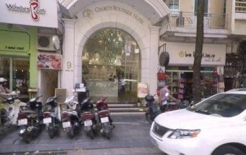 Cho thuê nhà mặt phố Nhà Thờ, Hoàn Kiếm 93mx5T. 46tr/tháng