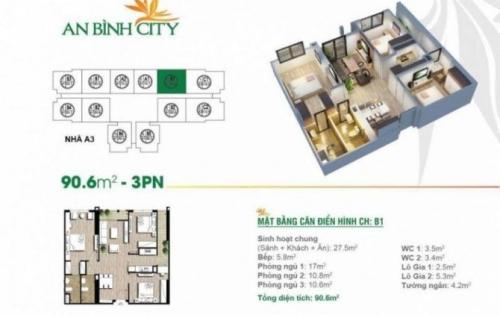 Tôi cần cho thuê gấp chung cư An Bình City với giá rẻ nhất thị trường hiện nay, BC ĐN, cửa vào Tây