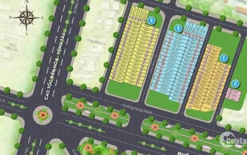 Đầu tư sinh lợi,đất mặt tiền thành phố Bà Rịa 680tr/nền