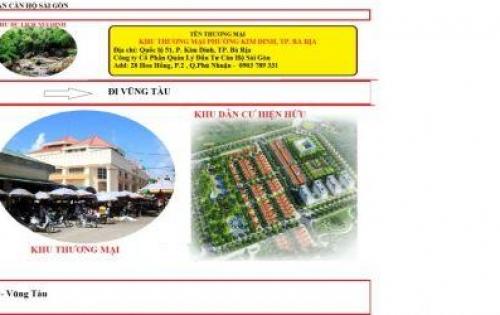 Sở hữu ngay lô đất vàng mặt tiền QL 51 trung tâm Bà Rịa–Vũng Tàu DT 550 m2, giá chỉ từ 7 tr