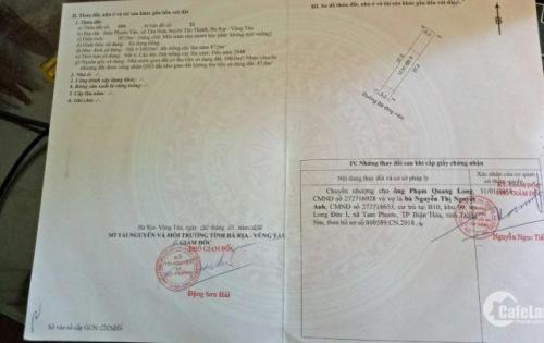 Chính chủ cần bán miếng đất tại thôn phước  tấn TP Bà Rịa Vũng Tàu