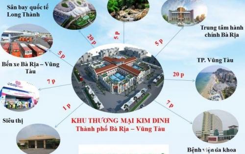 Chính chủ bán đất mặt tiền Kim Dinh, khu thương mại cửa ngõ Bà Rịa, đầu tư kinh doanh lợi nhuận cao