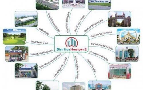 Chỉ 13 triệu/m2, tặng 2 cây vàng, CK 18% - 10 suất ưu đãi  dự án KĐT Biên Hòa New Town 2, mặt tiền Nguyễn Thị Tồn- 0902885808