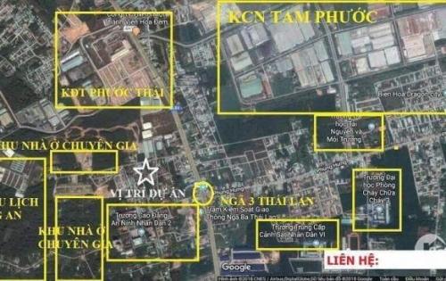 Đất vàng thổ cư 100%, xã Tam Phước, Tp Biên Hòa, Đồng Nai.