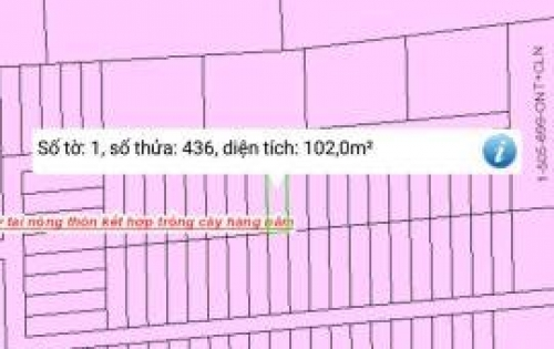 Bán đất Tam Phước gần vòng xoay 60m giá mềm đầu tư