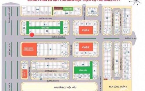 Cần bán đất TX Dĩ An - Ngay ngã tư 550 đường đôi 23m !
