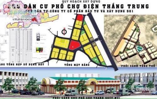 bán nhanh O19-02 Khu phố chợ Điện Thắng Trung giá 1 tỷ