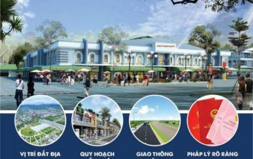 Khu phố chợ Điện Thắng Trung, gần chợ thích hợp kinh doanh