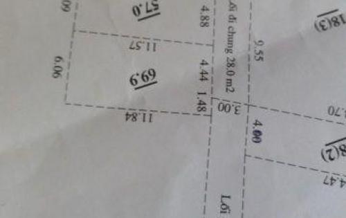 Đất nở Hậu 57m2 Thôn Mỹ Nội,Xã Bắc Hồng,huyện Đông Anh.
