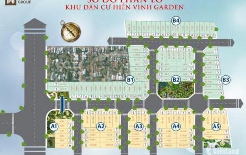 Đầu tư cho tương lai : chỉ 450tr sở hữu ngay lô đất vị trí vàng trong KDC Hiển Vinh Garden