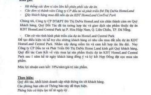 """Homeland Central Park """"tạo sóng"""" trên thị trường BĐS miền Trung mở bán đất nền LH 0977668639"""