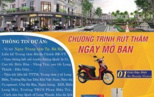 Bán đất sổ đỏ riêng từng nền, cam kết lợi nhuận 15%, nằm mặt tiền Tỉnh Lộ 44A, xã An Ngãi, huyện Long Điền.