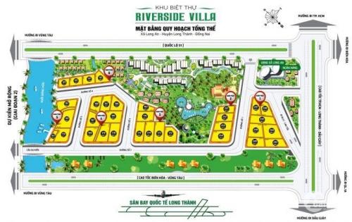 Bán Đất Nền Dự Án Tại Khu Đô Thị Riverside Villa - Huyện Long Thành - Đồng Nai