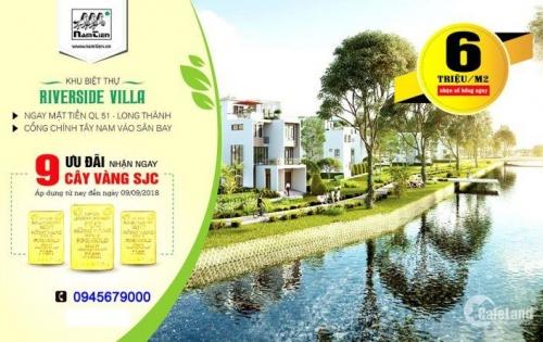 Bán Đất Nền Dự Án Tại Khu Đô Thị Riverside Villa - Huyện Long Thành - ĐN