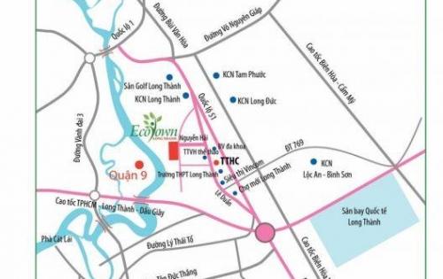 Mở bán giai đoạn cuối dự án khu dân cư cao cấp Ecotown Long Thành với giá đầu tư chỉ 560 triệu/nền/40%.