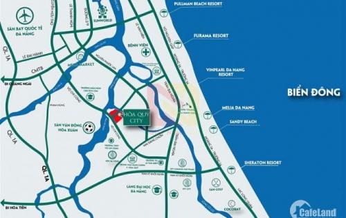 Đất liền kề trục shophouse, ngay trung tâm Q. Ngũ Hành Sơn, cách biển 2km.