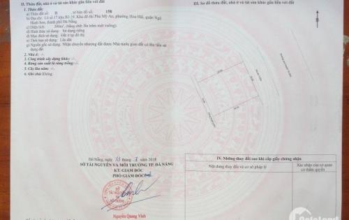Bán lô đất biệt thự mặt tiền đường Song Hào , Đà Nẵng . Block b3.19 . lô 17 . Diện tích 300m2 (15.20)
