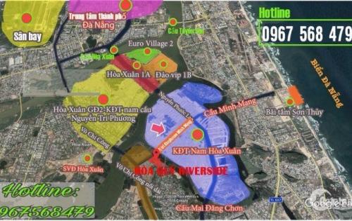 Đất nền ven sông- Trung tâm thành phố- Mặt tiền 8m