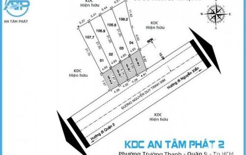 Đất bán mặt tiền đường Nguyễn Duy Trinh Quận 9, chỉ có 4 nền duy nhất, gần ngã 3 Tam Đa chợ Long Trường 100m giá cực sốc.