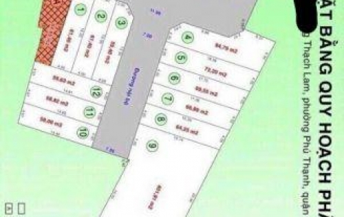 Tổng hợp ĐPL hẻm 58 Thạch Lam giá từ 4.2 tỷ/ lô 4x14.6m