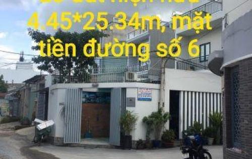 Lô đất 112.8m2, mặt tiền đường số 6, HB PHƯỚC THỦ ĐỨC