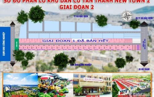 Bán đất dự án Tân Thành Giai đoạn 2,Thị xã Phú Mỹ,giá cực kì mềm chỉ 2,4 đến 2,6 triệu/m2