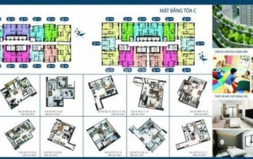 Bán căn hộ Intracom Riverside 1.17tỷ, 2PN, 64.5m2, chiết khấu 4,5% Lãi xuất 0%, full nội thất. 0869 954 863