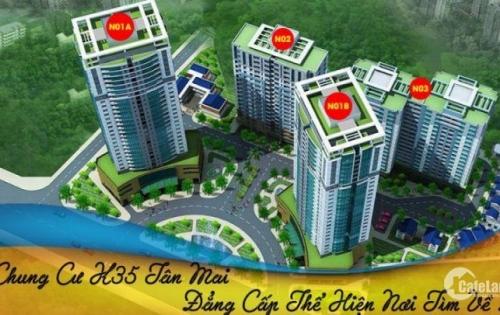Chính chủ cần bán căn hộ diện tích 123,5m2 dự án K35 tân mai với giá 3,025 tỷ.