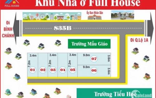 Bán nhà 1 lầu giá rẽ DT 70m2 ngay Ngã tư Phước Lý – tỉnh lộ 835B ngay Fivestar lh Hải: 01229697088