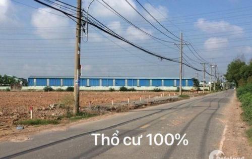 Bán Đất mặt tiền đường lớn  gần  chợ hóc môn cách 5km